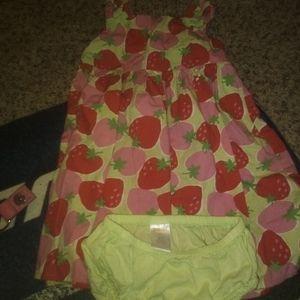 Strawberry dress set